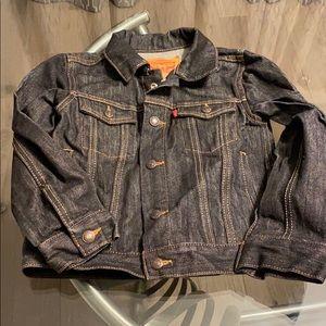Boys black denim Levi jacket 5 Regular